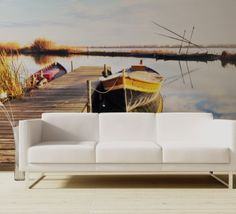 Tapet - Pier 345 x 270 cm Outdoor Sofa, Outdoor Furniture, Outdoor Decor, Wallpaper, Home Decor, Decoration Home, Room Decor, Wallpapers, Home Interior Design