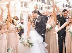 Hayley Paige real bride wearing #LondynGown #justgotpaiged #JLMcouture