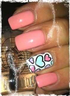 Valentine nail art. #naildesign