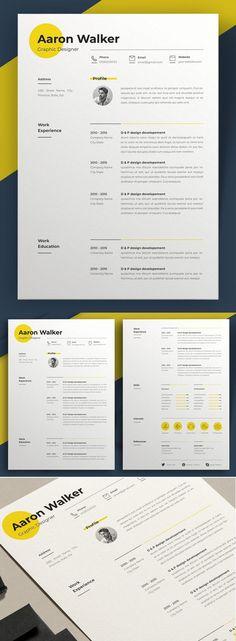 Simple Resume Template, Resume Design Template, Creative Resume Templates, Best Cv Template, Resume Layout, Resume Cv, Graphic Resume, Graphic Design Blog, Web Design