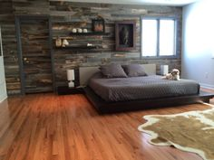 Stikwood reclaimed weathered wood accent wall