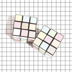 Pastel Rubik's Cubes