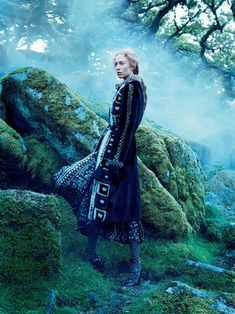 into the woods: raquel zimmermann by mikael jansson for us vogue september 2015   visual optimism; fashion editorials, shows, campaigns & more!