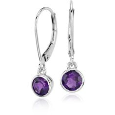 Blue Nile Amethyst Bezel Drop Earrings (€265) ❤ liked on Polyvore featuring jewelry, earrings, amethyst jewelry, bezel earrings, 14k jewelry, bezel jewelry and 14 karat gold earrings