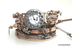 Rusty Looking Wrap Watch Vintage Womens by CuckooNestArtStudio, $49.00