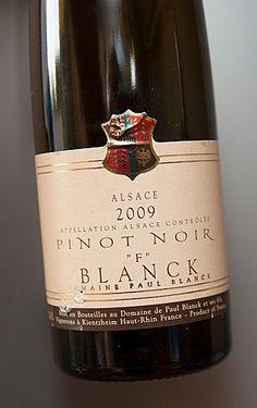 """Alsace Pinot noir «F» 2009 Domaine Paul Blanck, """"Un rouge gourmand, plein de soleil, déjà plaisant avec son coté juteux."""" #DrinkAlsace"""