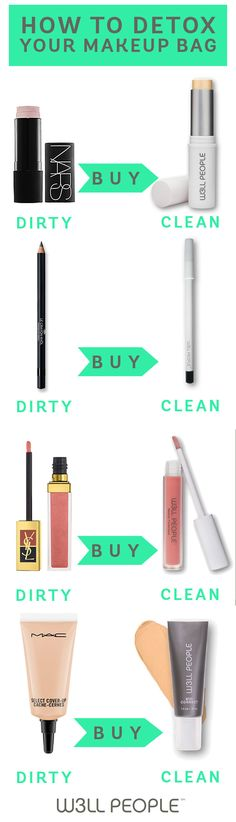 How to Detox your Makeup Bag using nontoxic, vegan, cruelty-free products from W3LL PEOPLE
