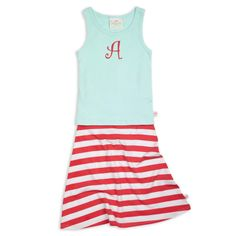 How Cute is this Cozy Cotton Outfit for your Little Girl?? Shop the Tiffany Tank Coral Stripe Maxi Skirt Set by Clicking the Image or Link Below!  http://www.lollywollydoodle.com/collections/outfits-sets/products/coral-tank-aqua-stripe-maxi-skirt-set?utm_source=Pinterest