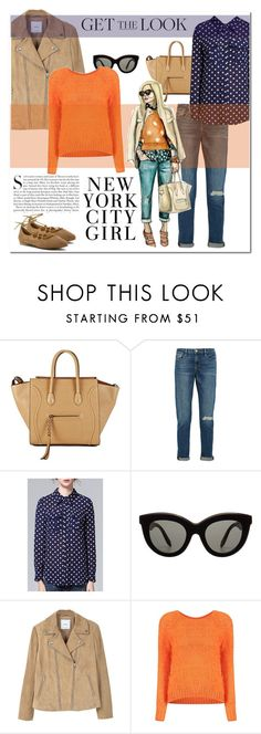 """Get the Look ✨"" by ghada-a ❤ liked on Polyvore featuring CÉLINE, Frame Denim, Kershaw, Victoria Beckham, MANGO and Me Too"