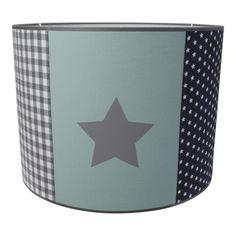 Zes vlakken lamp met ster in grijs en mint / pastel groen Leuk voor de ...