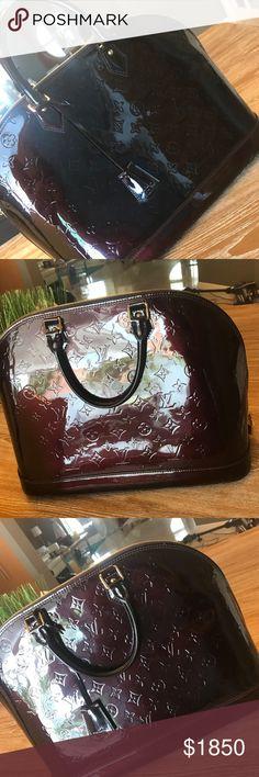 Louis Vuitton Alma GM Burgundy color. Authentic in great condition Louis Vuitton Bags Totes