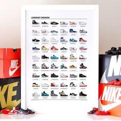 Affiche Legendary Sneakers par Olivier Bourdereau - Wall Editions