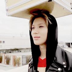 SHINee Taemin fun. Tae's life is a balancing act. Tae shows us what hardheaded looks like. Tae's all packed and ready to go. Tae's like I have actually have a pair suit in this thing. Tae will never lose anything again because he has his lucky suitcase. I LOVE TAEMIN!!!