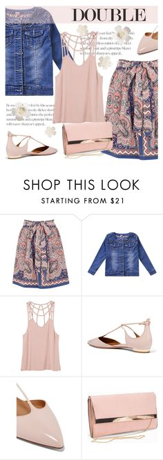 """""""Double"""" by cilita-d ❤ liked on Polyvore featuring Oasis, RVCA, Aquazzura and New Look"""