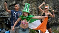 Irish Fan at the Tour de France 2013
