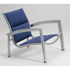 Tropitone South Beach Padded Sling Stacking Arm Chair Fabric: Palm Springs, Finish: Parchment