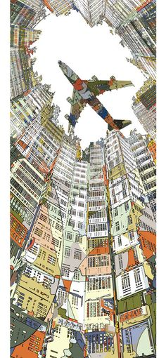 """Kowloon Walled City"" by Japanese illustrator HR-FM"