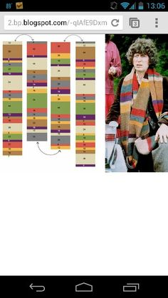 Doctor who scarf pattern