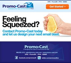 Email Marketing Design/Layout for Promo-Cast - San Jose, CA.