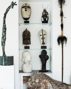 Wendy Whiteley talks with Verity Magdalino about her home and garden in Lavender Bay, NSW Home Movies, White Houses, Tribal Art, Home And Living, Decorative Accessories, Ladder Decor, Beautiful Homes, Living Spaces, Home And Garden