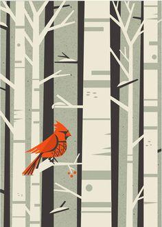 love the little red bird