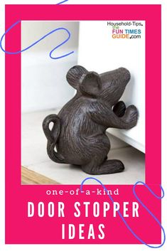 """30 Unique Door Stopper Ideas - Clever ideas for home and office door stops! Three different """"types""""... 1) See how to use everyday items you already have at home as door stop alternatives   2) DIY tutorials to make your own fun door stops   3) Unique door stoppers on Amazon. Find the perfect touch for your home or office!   door stopper   Adult Crafts, Diy Home Crafts, Fun Crafts, Diy Cleaning Products, Cleaning Hacks, Unique Gadgets, House Hacks, Decorating Ideas, Decor Ideas"""
