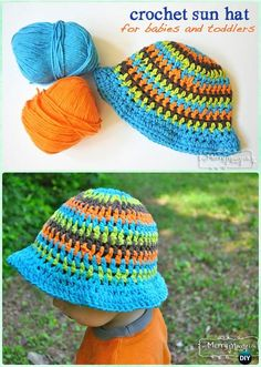 Crochet Baby Toddler Summer Sun Hat Free Pattern - Crochet Boys Sun Hat Free Patterns