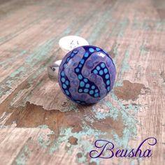 Handmade Lampwork Ringtop Latin American Spirit von Beusha auf Etsy