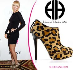 House of Harlow Natalia calf hair platform booties are ON SALE!