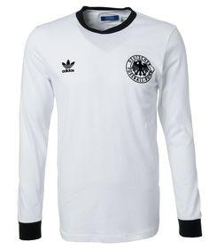 DFB Retro Longsleeve by adidas #soccer #training #game Football Is Life, Football Gear, Football Kits, Soccer Uniforms, Soccer Jerseys, Adidas Originals Herren, Adidas Tracksuit, Soccer Kits, Team Shirts