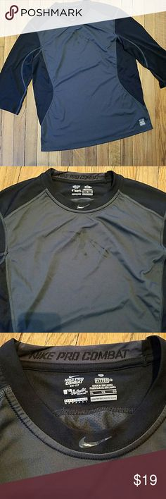 Nike dri-fit baseball pro combat XL fitted Nike dri fit baseball pro combat XL fitted mesh tee in good condition. Nike Shirts