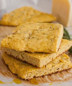 Grain-free Rosemary Focaccia (omit flax seed or find alternative)