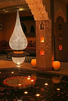 Hammam of La Maison Arabe (Marrakech) - 2020 All You Need to Know Before You Go (with Photos) - Marrakech, Morocco Moroccan Chandelier, Morrocan Decor, Moroccan Lanterns, Moroccan Lighting, Brass Chandelier, Chandeliers, Moroccan Design, Moroccan Style, Moroccan Art