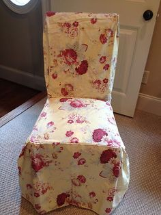 Waverly Garden Room Vintage Rose Sure Fit Parsons Chair Slip Cover NEW