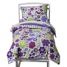 Bacati Botanical Purple 4pc Toddler Set : Target