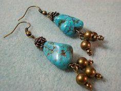 Southwest Spirit Turquoise Earrings | AllFreeJewelryMaking.com