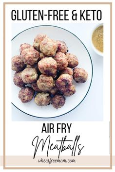 This easy gluten-free recipe for air fry meatballs uses my low carb crumb mix. They are crispy on the outside and moist in the middle and take only 15 minutes to make in the air-fryer.Eat as a snack, or in spaghetti and meatballs or as an appetizer with your favourite mustard dip. Gluten Free Baking, Gluten Free Recipes, Low Carb Recipes, Gluten Free Appetizers, Appetizer Recipes, Gluten Free Meatballs, Healthy Alternatives, Dip, Mustard