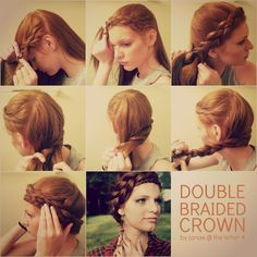 Ideal para pelo largo #longhair #princess the letter 4: Double Braided Crown Tutorial