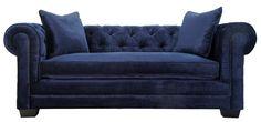 TOV Furniture Norwalk Navy Velvet Sofa – Pearl Igloo
