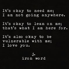 j. iron word, I love You.
