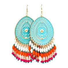 Patina Boho Chandelier Earrings | Awesome Selection of Chic Fashion... ❤ liked on Polyvore