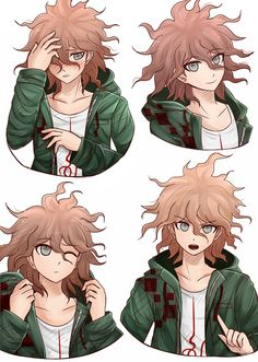 Woah, Komaeda with his assumed true hair colour... He still looks so cute and unf <3 (I prefer this white hair, though) :3
