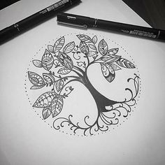 Image result for paisley tree tattoo