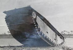 This is an LVT-4 landing craft that could bring 34 fully-equipped Marines into an enemy-held Pacific Island beach during the Second World War. It could move at 8 mph in water and 38 mph on land. It was one of the few vehicles capable of moving on Iwo Jima's black volcanic sand beaches. Photo provided