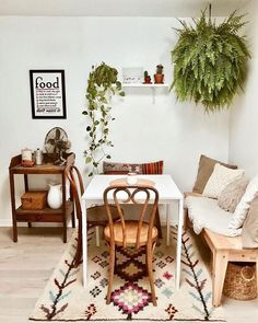 77 outstanding bohemian dining room design and decor ideas 5 Design Room, Dining Room Design, Interior Design, Home Design, Dining Area, Interior Ideas, Dining Table, Cheap Home Decor, Diy Home Decor