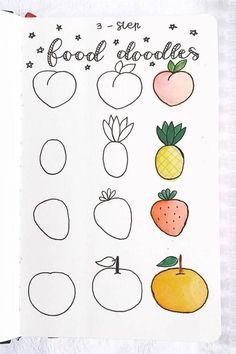 Easy Doodles Drawings, Easy Doodle Art, Cute Easy Drawings, Mini Drawings, How To Doodle, Cute Easy Doodles, Bullet Journal Lettering Ideas, Bullet Journal Ideas Pages, Bullet Journal Inspiration