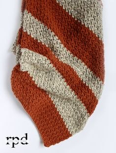 Fall Pumpkin Tweed Blanket - Free Crochet Pattern #autumn #freepattern #crochet…