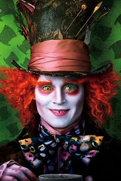 "Johnny Depp as The Mad Hatter in ""Alice in Wonderland"""