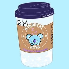 'Koya Espresso Sticker by ChocoSenpai Bts Drawings, Kawaii Drawings, Gif Lindos, Cool Vans, Bullet Journal Ideas Pages, Vintage T-shirts, Bts Chibi, Line Friends, Cute Cartoon Wallpapers