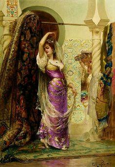 La Danse du Voile Eduard Frederic Wilhelm Richter  ( French 1844-1913 )